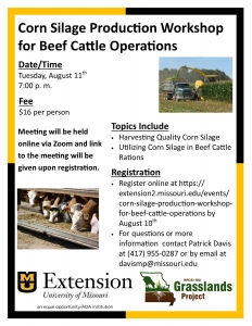 Corn Silage Production Workshop for Beef Cattle Operations @ Zoom Meeting