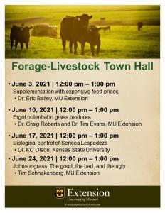 Forage-Livestock Town Hall--Biological control or Sericea Lespedeza